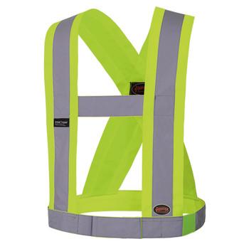 """V1040360 Hi-Viz CSA 4"""" Wide Adjustable Safety Sash"""
