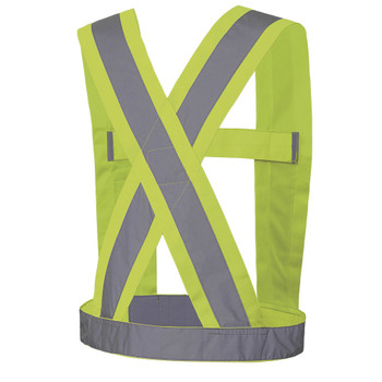 Pioneer 5492 Adjustable Safety Sash - Hi-Viz Yellow/Green   Safetywear.ca