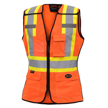 Pioneer 486 Women's Tear-Away Safety Vest - HI-Viz Orange | Safetywear.ca