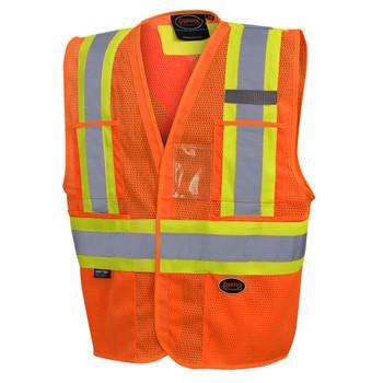 Pioneer 6945 Non Tear-Away Mesh Vest - Hi-Viz Orange   Safetywear.ca