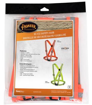 Pioneer 5496 Adjustable Safety Sash - Hi-Viz Orange | Safetywear.ca