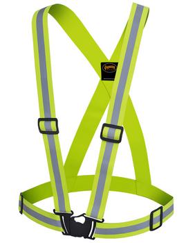 Pioneer 5497 Adjustable Safety Sash - Hi-Viz Yellow/Green | Safetywear.ca