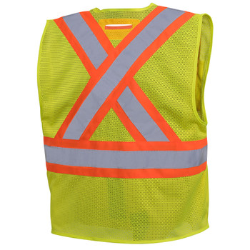 Pioneer 6946 Non Tear-Away Mesh Vest - Hi-Viz Yellow/Green   Safetywear.ca