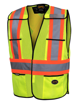 Yellow 6927 Hi-Viz Traffic Vest | Safetywear.ca