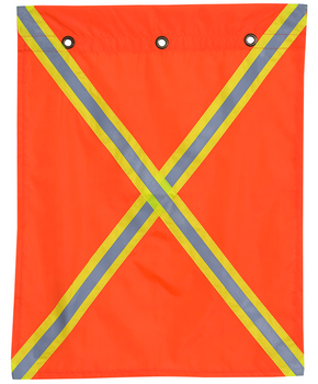 Pioneer 353 Polyester Flag with Reflective Tape On Both Sides   Safetywear.ca