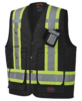 Pioneer 668 CSA Surveyor's / Supervisor's Vest - Black   Safetywear.ca