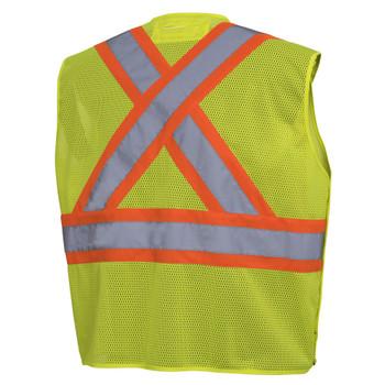 Pioneer 6939A Drop Shoulder Safety Vest - Hi-Viz Yellow/Green   Safetywear.ca
