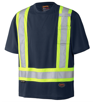 Navy - 6992N Birdseye Safety T-Shirt