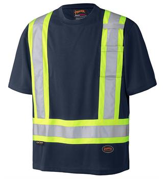Navy - 6992N Birdseye Safety T-Shirt