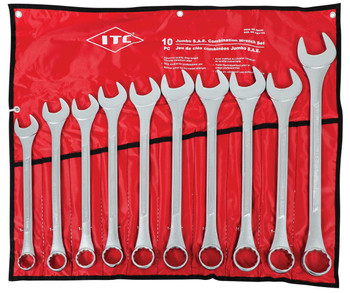 ICWJ-10M 10 PC Jumbo Metric Combination Wrench Set