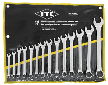 ICW-14PM 14 PC Metric Polished Combination Wrench Set