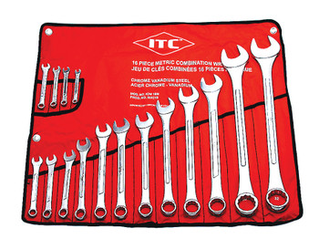 ICW-16M 16 PC Metric Combination Wrench Set