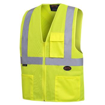 "Pioneer 6922 Safety Vest with 2"" Tape - Hi-Viz Yellow/Green   Safetywear.ca"
