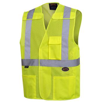 "Pioneer 6923 Safety Vest with 2"" Tape - Hi-Viz Yellow/Green   Safetywear.ca"