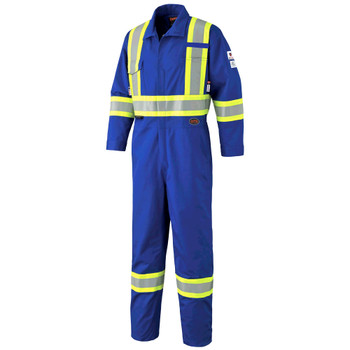 Pioneer 7704T FR-Tech™ Flame Resistant 7 oz Safety Coverall - Hi-Viz Royal (Tall) | Safetywear.ca