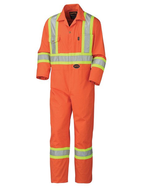 Orange - 5514 Safety Poly/Cotton Coverall