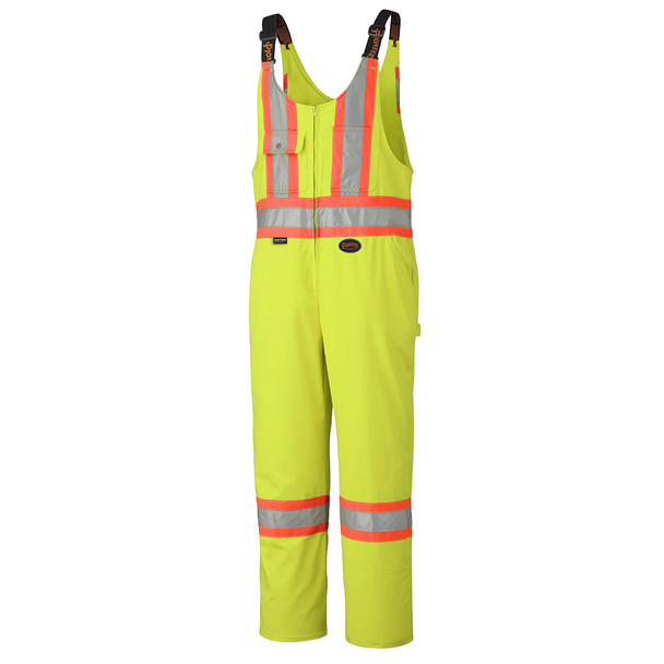 Yellow/Green - 6616T Hi-Viz Safety Overalls - Poly/Cotton | Safetywear.ca