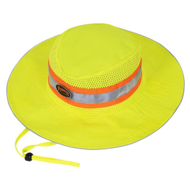 Yellow/Green - 279 Pioneer Hi-Viz Ranger's Hat With Strap   Safetywear.ca