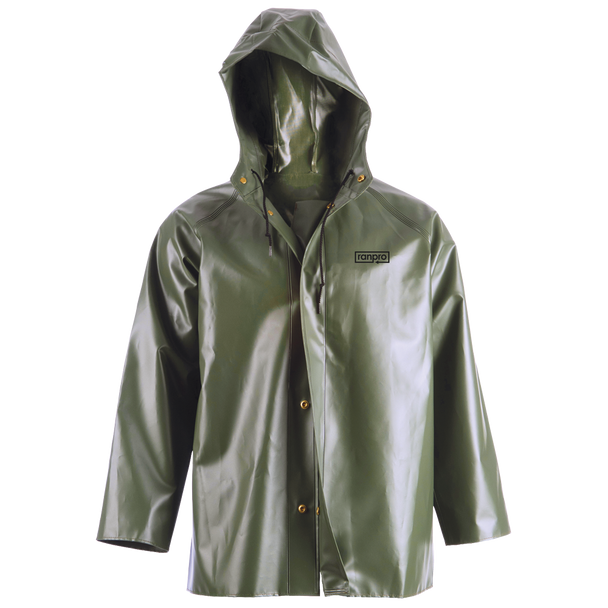 J35 345H Canadian Waterproof Hooded Rain Jacket - PVC Coated Polyester | Safetywear.ca