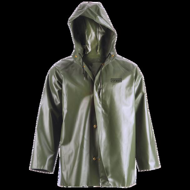 J35 345H Canadian Waterproof Hooded Rain Jacket - PVC Coated Polyester | Safetywear.ca