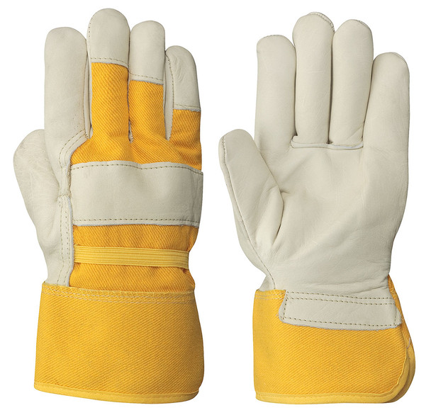 Cream/Yellow Insulated Fitter's Cowgrain Glove