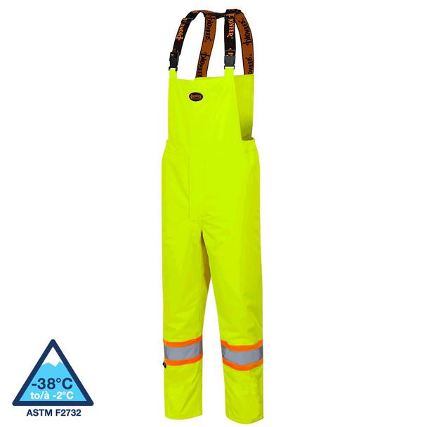 Pioneer 5054 Oxford Poly Insulated Bib Pants - Hi-Viz Yellow/Green | Safetywear.ca