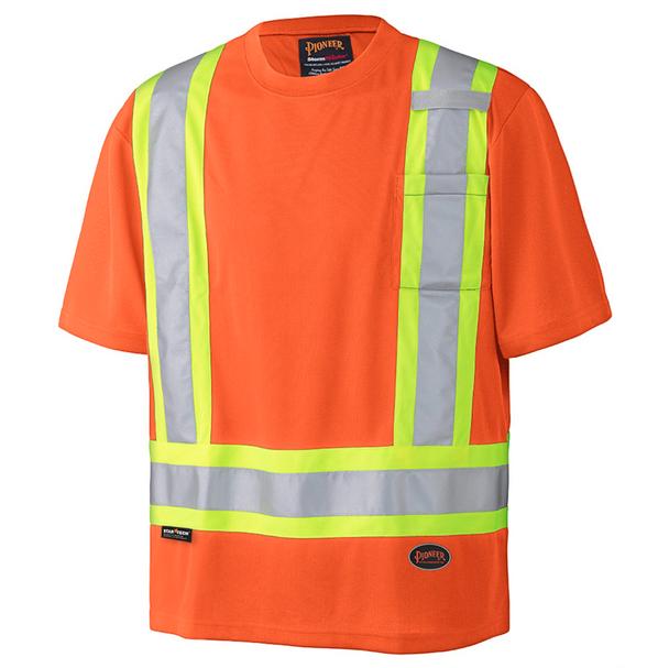 Pioneer 6990 Birdseye Safety T-Shirt - Hi-Viz Orange | Safetywear.ca