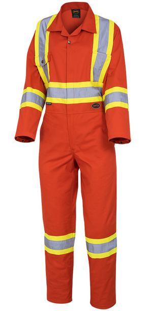 Safety Red - 5514W Women's Safety Poly/Cotton Coverall