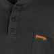 Black - Back, 332 100% Cotton Fire Resistance Interlock 7oz Henley Shirt   Safetywear.ca