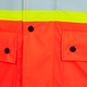 Hi-Viz Orange - Pockets, 5892PKT Fire Resistance Polyurethane Waterproof Safety Jacket | Safetywear.ca