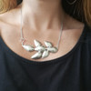 Statement Silver Necklace that can be worn as a pendant too|Designer Necklace|Convertible Jewelry