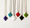 enameled color charm necklaces