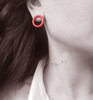 Zoe, Stylish fashion earrings in many colors! Circle Minimal earrings