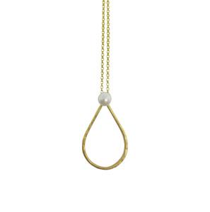 Pearl Drop Necklace, elegant, minimal  silver necklace