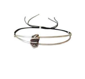 Oxidised silver bracelet