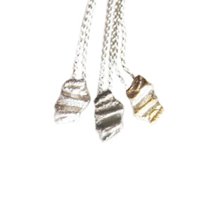 Raw silver charms with chain