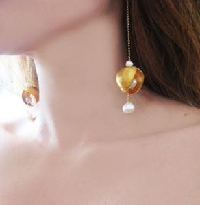 Luxury Modern Romantic Long Earrings with Pearls |Designer Earrings|Bridal