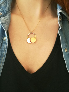 SunMoon Necklace-Pendant |Sun & Moon Necklace |Adjustable  Pendant Modern Necklace
