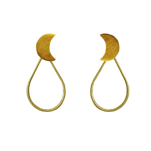 Drop earrings with moons, can be worn all day in many ways see the photos