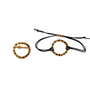 Gold Plated open circle charm bracelet|Designer Bracelet