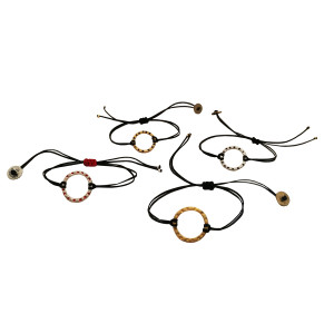 Open circle charm bracelet|Karma|Designer bracelet