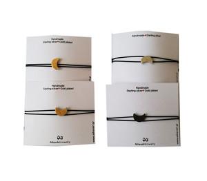 Bracelet with moon charm |minimal charm bracelet|Moon jewelry