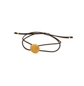 Silver Circle (Sun) charm Bracelet|Minimal Sun Bracelet