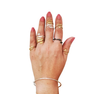 Silver Twig Ring|Stacking rings|Twig rings|Stackable rings