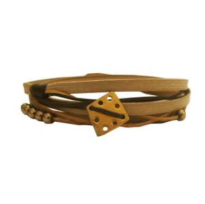 Wrap bracelet with silver charm|Greek jewelry designer|Handmade bracelet