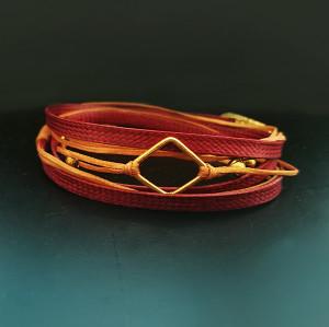 Wrap Unisex Bracelet with Geometric Motif |Designer Bracelet