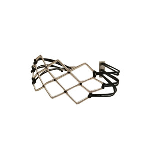 Statement  geometric silver bracelet with many cords|Designer Bracelet