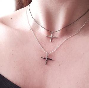 Cross necklace, charm cross, cross charm