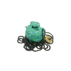 The Ancient Greek Broken Kanata (pot) in Blue Patina