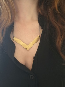 Minimal Greek Geometric Necklace